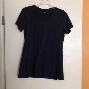 Navy blue v neck t shirt